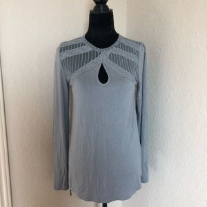 NWT BKE Lace Top Long Sleeve Top